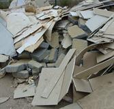 afvoer van bouwafval